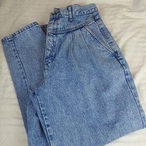 Bill Blass 80's pleated high-waisted jeans